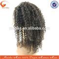 Venda quente do peru não transformados curto afro kinky laço perucas de cabelo humano, natural perucas afro