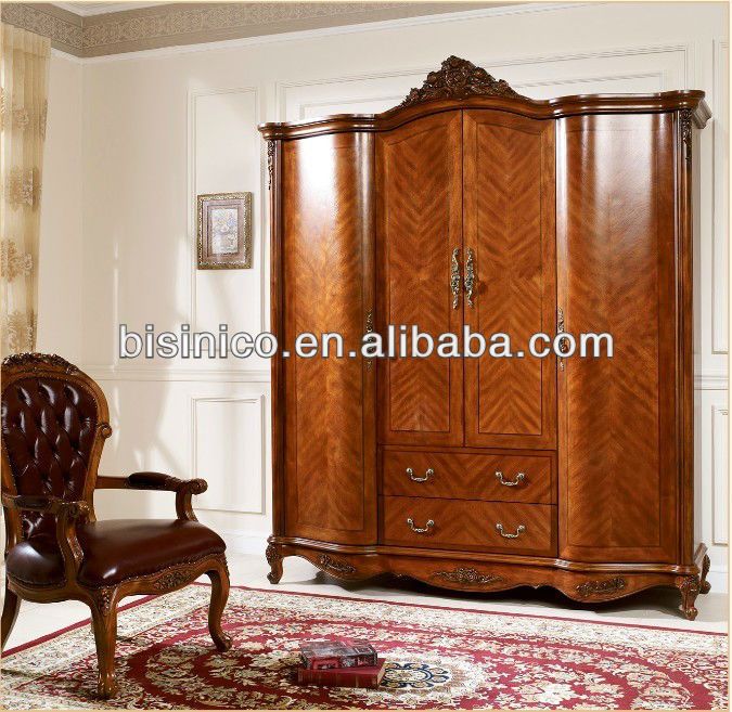 american style soild wood garderobe american 4 door. Black Bedroom Furniture Sets. Home Design Ideas