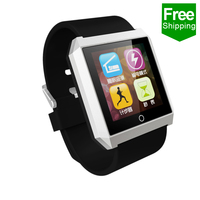 the newest the thinest HD touch screen in Factory price smart watch Chip MTK for Android phone