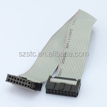 stc cable ul 2651 28awg 30cm 12 pin Pitch 2.54mm idc female connector flat ribbon cable