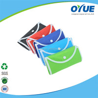 Wholesale color printed recycle foldable nonwoven shopping bag