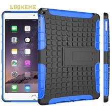 For iPad Mini Stand Case PC + Silicone Case 2 in 1 Transformers Protective Case