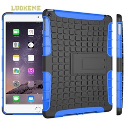 For iPad Mini Stand Case PC + Silicone Case 2 in 1 Transformers Protective Case