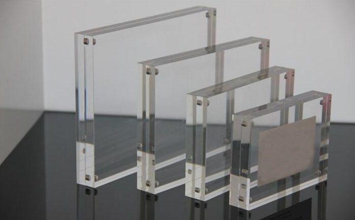 Transparent Acrylic Double Sided Photo / Picture Frames 5x7 Glass ...