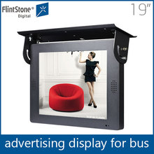 flintstone 19 inch tft lcd digital advertisement monitor, loop-play roof or shelf mount bus lcd video player