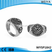 Wholesale 2015 stainless steel masonic skull ring