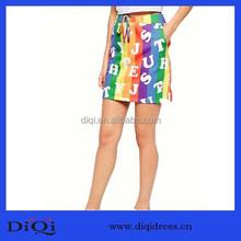 Hot sale Rainbow strip miniskirt Summer breathlable skirt women wear girls lovely dress skirts wholesale skirt lady dresses