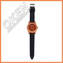 Hot new products for 2015,silicone wristband wooden watch