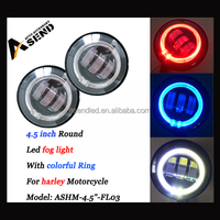 """On Sale! 6500k 4.5"""" halo led fog light, 4.5 inch 12v led motorcycle drive light with ring, 30w led drivinglight for harley"""