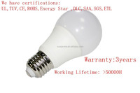 UL TUV CE ROHS Verbatim 7Watt Warm White A19 LED Replacement Bulb
