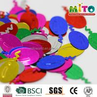 China PVC rainbow Confetti balloons