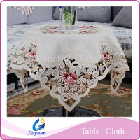 high quality printing thickening tablecloths, lace embroidery tablecloths, wedding decoration