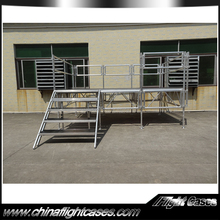 Plywood 1.22x2.44m Adjustable Folding Aluminum Portable Stage for Sale