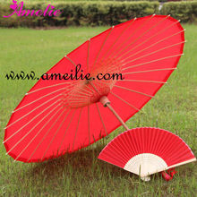 A03124-1 Hot Red Cheap Umbrella with fan