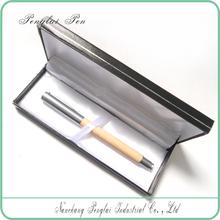 Luxury senior gift pen set/wood roller pen for business gift with box