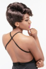 2015 hot products personalized hair styles 100% kanekalon synthetic hair wigs for sexy black women