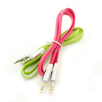 high quality flat aux/audio cable for smartphone/car/speaker 1meter