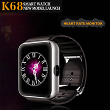 Newest Heart rate Smart Watch K68 bluetooth 4.0 heart rate monitor watch gps tracker