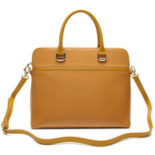 Elegance top first cow layer leather woman leather laptop bag