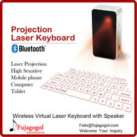 with voice broadcasting and speaker wireless cube bluetooth laser virtual keyboard