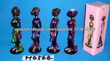 Resina africa lady figuras 4 diseños