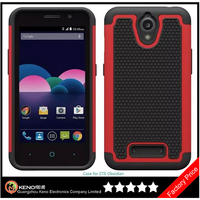 Keno Wholesale Hard Soft Cases For ZTE 820 With Football Texture For ZTE Obsidian Phone Combo Cases