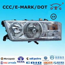 Donggang factory ECE E9 head light toyota coaster