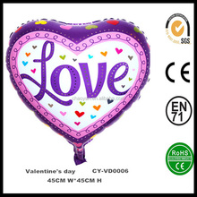 """18"""" Heart Shaped Love Valentine's Day Helium Foil Balloon,Heart Shaped Balloon For Wedding Party Decoration"""