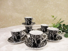 Hot sales!! ceramic porcelain 80cc small coffee cup and saucer set