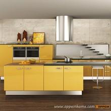 Malezya proje modern lake sarı mutfak dolabı