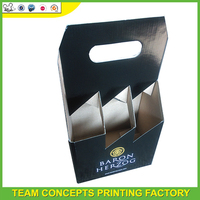 Manufacturer packaging recycled cardboard 3 pack bottle carriers kraft