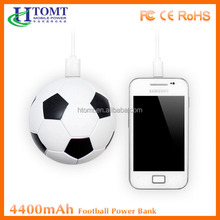Universal Larger Capacity Power Bank 4400mah , Soccer Ball Personalized Portable Power Bank