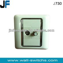 J730 tv and satellite socket British style PC,ABS 10A250V Cyprus tv and satellite socket