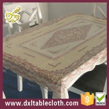 Garden new decorat printed PVC transparent tablecloth --Red
