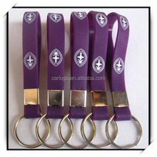 simple PVC Soft Rubber Keyrings For Men
