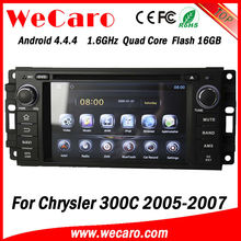 Wecaro Android 4.4.4 Touch screen in dash car dvd player radio multimedia with gps navigation for Chrysler 300C