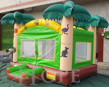 Tropical moonwalk Inflatable bouncer,Palm Trees Bounce House,jungle inflatable jumper