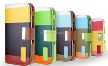 Top Selling Wallet Case with Card hole flip leather case for iphone 6