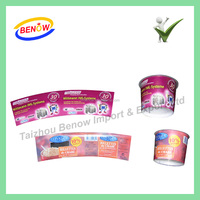 High Quality Printing Aluminium In Mould Label For Injection Plastic Products with Beautiful Cartoon Designs