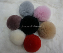 Real Rabbit Fur Pom Poms, Fur Pompon, Fur Ball