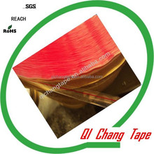 acrylic glue red line printing Bopp bag sealing tape for HDPE bags