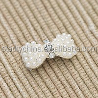 silver bow pearl jewelry fashion nail sticker