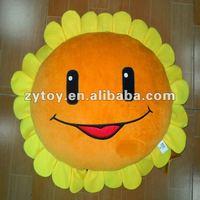 beautiful and warm plush sunflower cushion cover