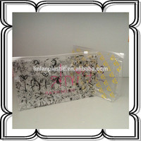 clear vinyl transparen PVC slider ziplock bag