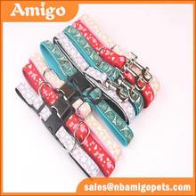 customed woven logo or jacquard logo apliccation plain nylon dog collars wholesale
