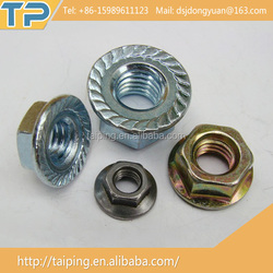 Stainless Steel zinc plated titanium flange nut motorcycle
