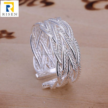 indonesia ring silver 925, adjustable mesh ring R023