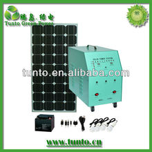 off grid solar power system with inverter 300W solar panel 70W controller 10A