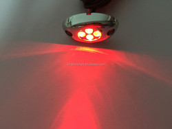 LED license plate POD light Silver Cover with 4 red leds