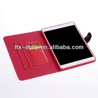 Diamond Stand leather Case for ipad 5 with leather cover case for ipad5 tablet with card holder